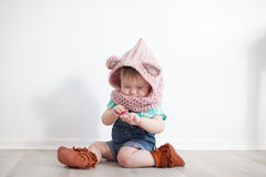 Cute baby playing Royalty Free Stock Photography