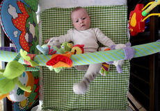 Cute baby plays royalty free stock image