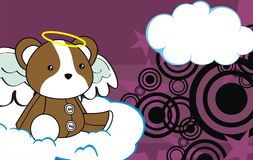 Cute baby plush hamster angel cartoon background Royalty Free Stock Photography