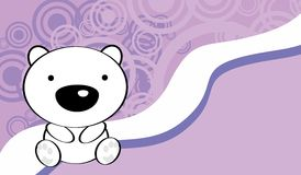 Cute baby polar bear background Royalty Free Stock Images