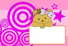 Cute baby porcupine girl background Stock Images