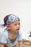 Cute baby portrait. It is a cute chinese baby, he is 8 months old Stock Image