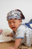 Cute baby portrait. It is a cute chinese baby, he is crying Stock Images