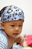 Cute baby portrait. It is a cute chinese baby, he is 8 months old Stock Photography