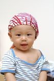 Cute baby portrait. It is a cute chinese baby, he is 8 months old Royalty Free Stock Images