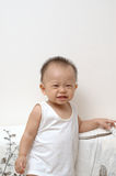 Cute baby portrait. It is a cute chinese baby, he is 9 months old Stock Image