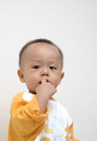 Cute baby portrait. It is a cute chinese baby, he is 10 months old Royalty Free Stock Photography