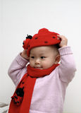 Cute baby portrait. It is a cute chinese baby Stock Photos