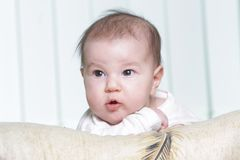 Cute baby portrait at home Royalty Free Stock Photos