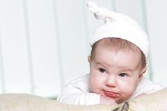 Cute baby portrait at home Stock Photography