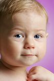 Cute Baby posing for the camera Stock Photography