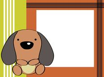 Cute baby puppie background. Cute baby animal frame background in vector format very easy to edit Royalty Free Stock Photos