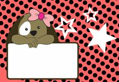 Cute baby puppie girl background Royalty Free Stock Photos