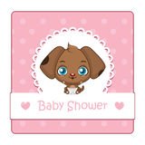 Cute baby puppy illustration with background Stock Photography