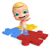 Cute baby with Puzzle Royalty Free Stock Photos