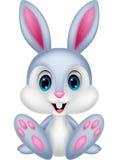 Cute baby rabbit cartoon royalty free illustration