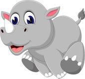 Cute baby rhino cartoon Royalty Free Stock Photos