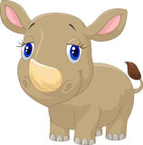 Cute baby rhino cartoon Royalty Free Stock Images