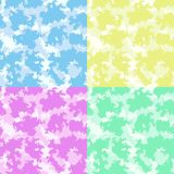 Cute baby room colorful clouds background, seamless nursery wallpaper pattern, vector. Cute baby background colorful clouds, nursery seamless wallpaper pattern stock illustration