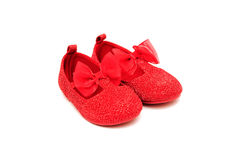 Cute baby's shoes Royalty Free Stock Images