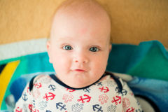 Cute baby with sailor dress Royalty Free Stock Photos