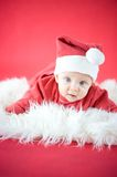 Cute baby Santa Royalty Free Stock Photos