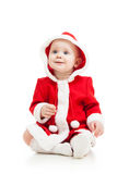 Cute baby in Santa Claus clothes Stock Photo