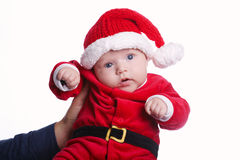 Cute baby with santa costume Royalty Free Stock Images