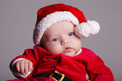 Cute baby with santa costume Royalty Free Stock Photography