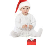 Cute baby in Santa's hat Royalty Free Stock Photography