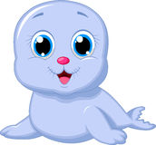 Cute baby seal cartoon Stock Image