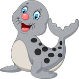 Cute baby seal cartoon Stock Photos