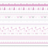 Cute baby seamless border. Child birthday pattern.