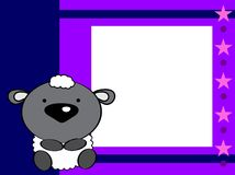 Cute baby sheep background Royalty Free Stock Images