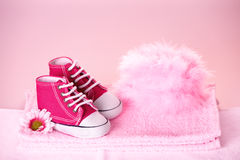 Cute baby shoes Royalty Free Stock Image