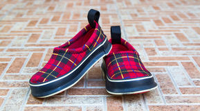 Cute baby shoes . Royalty Free Stock Photo