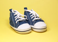 Cute baby shoes Stock Photo
