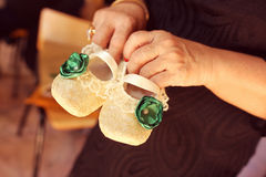 Cute baby shoes Royalty Free Stock Photo