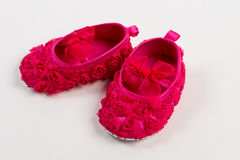 Cute baby shoes for a girl Stock Photos