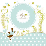 Cute baby shower stock illustration