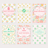 Cute baby shower banners. Royalty Free Stock Photos