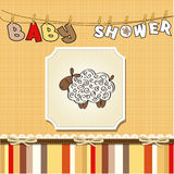 Cute baby shower card Royalty Free Stock Images