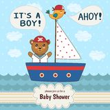 Cute baby shower invitation card It's a boy Stock Images
