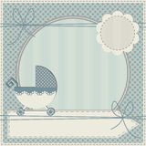 Cute baby shower invitation. For your design Stock Images