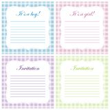 Cute baby shower invitations Stock Photography
