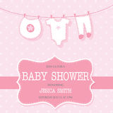 Cute baby shower ivitation card Royalty Free Stock Photo