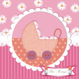 Cute baby shower and scrapbook design Royalty Free Stock Photography