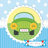 Cute baby shower and scrapbook design Stock Photo