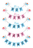 Cute baby shower, vector design Stock Images