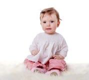 Cute Baby sitting stock photos